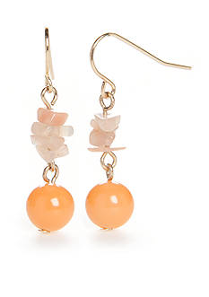New Directions® Gold-Tone Genuine Stone Drop Earrings