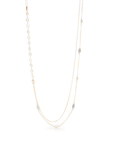 New Directions® Gold-Tone Genuine Stone Pearl Double Strand Necklace