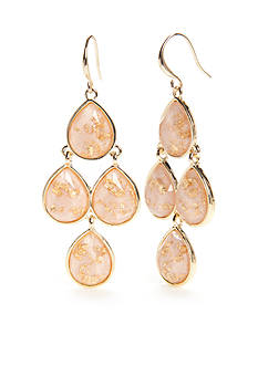 New Directions® Gold-Tone Gold Dust Chandelier Earrings