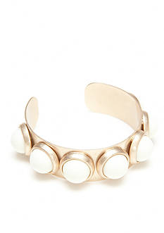 New Directions Gold-Tone Natural Elements Studded Cuff Bracelet