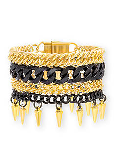 Steve Madden Two-Tone Five Layer Bracelet