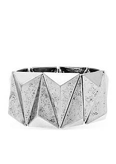 Steve Madden Concave Metal Stretch Bracelet
