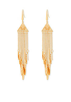 Tribal Gone Wild Steve Madden Metal Tribal Chandelier Earrings