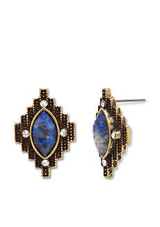 Steve Madden Aztec Stone Stud Earrings