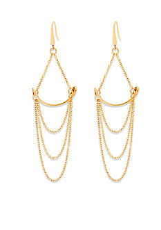 Steve Madden Simple Chain Draped Earrings