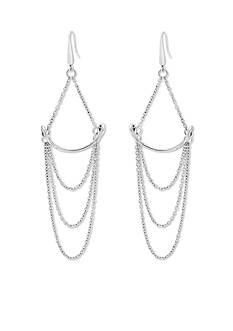 Steve Madden Silver Gypsy Spirit Steve Madden Simple Chain Draped Earrings