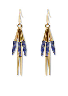 Steve Madden Linear Stone Spike Drop Earrings