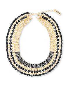 Steve Madden Two-Tone Multi-Chain Choker