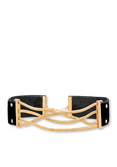 Steve Madden Gold-Tone Stainless Steel Snake Chain Choker
