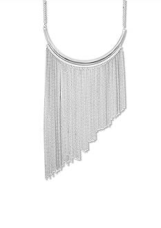 Steve Madden Asymmetrical Chain Fringe Necklace