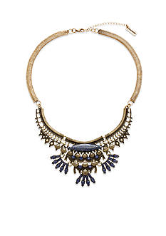 Steve Madden Tribal Stone Bib Necklace