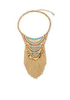 Steve Madden Descending Crescent Statement Necklace