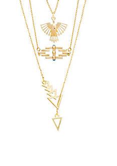 Steve Madden Delicate Tribal Necklace Set