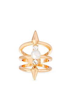 Steve Madden Gold-Tone Stainless Steel Ring