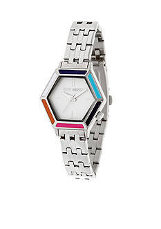 Steve Madden Women's Hexagon Dial Mod Chain-Link Watch