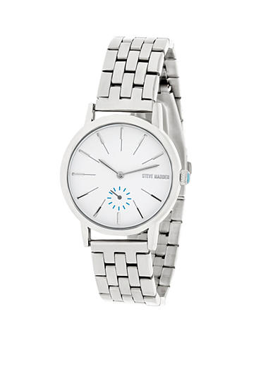 Steve Madden Women's Silver-Tone Chain Link Watch