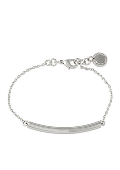 French Connection Silver-Tone Modern Tube Bracelet