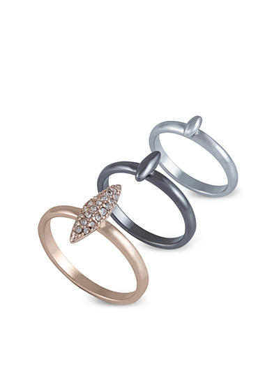 French Connection Mini Spike Midi Ring Set