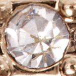 Stud Earrings: Gold PET FRIENDS Crystal Bone Treat Stud Earrings