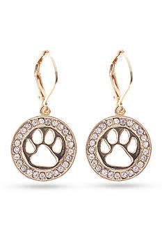 PET FRIENDS Crystal Paw Drop Earrings