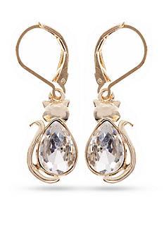PET FRIENDS Crystal Cat Tail Drop Earrings