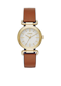 Chaps Women's Alanis Three-Hand Reversible Leather Strap Watch