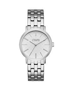 Chaps Women's Whitney Silver-Tone Bracelet Watch