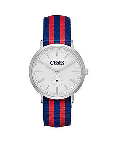 Chaps Men's Dunham Striped Canvas Two-Hand Watch