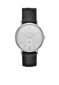 Chaps Men's Dunham Three Hand Leather Watch