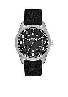 Chaps Men's Bransen Canvas Two-Hand Watch