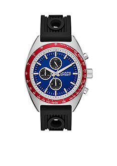 Chaps Men's Rockton Chronograph Black Silicone Strap Watch