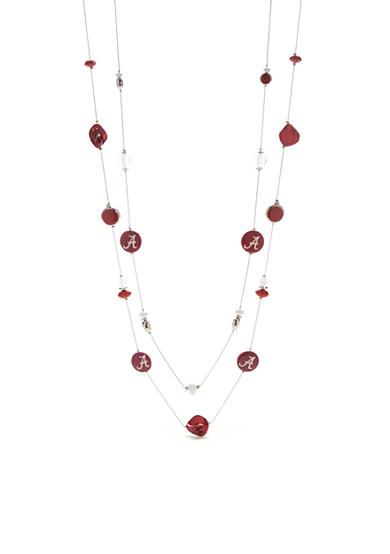 accessory PLAYS® Silver-Tone Alabama Crimson Tide Illusion Necklace