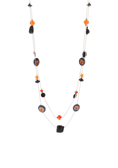 accessory PLAYS® Silver-Tone Auburn Tigers Long Illusion Necklace