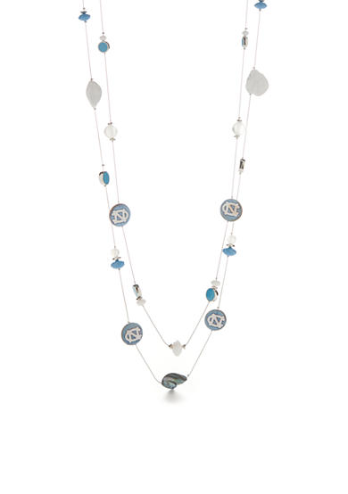 accessory PLAYS® Silver-Tone UNC Tar Heels Multistrand Necklace