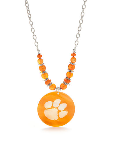 accessory PLAYS® Silver-Tone Clemson Tigers  Pendant Necklace