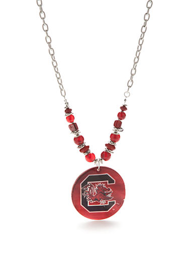 accessory PLAYS® Silver-Tone South Carolina Gamecocks Large Shell Pendant Necklace