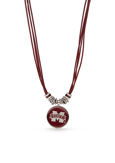 accessory PLAYS® Silver-Tone Mississippi State Bulldogs Multi Strand With Pendant Necklace
