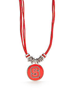 accessory PLAYS® Silver-Tone NC State Wolfpack Multi Cord Pendant Necklace