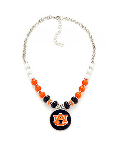 accessory PLAYS® Silver-Tone Auburn Tigers Pendant Necklace