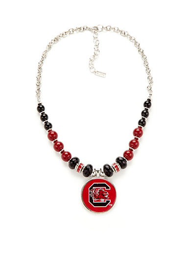 accessory PLAYS® Silver-Toned South Carolina Gamecocks Pendant Necklace