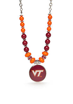 accessory PLAYS® Silver-Tone Virginia Tech Hokies Bead Collar Pendant Necklace