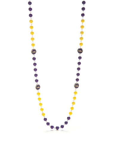 accessory PLAYS® Silver-Tone LSU Tigers Strand Necklace