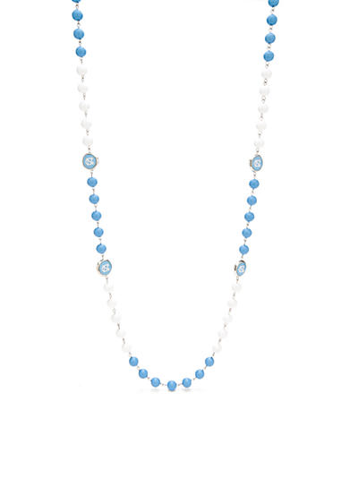 accessory PLAYS® Silver-Tone UNC Tar Heels Long Beaded Necklace
