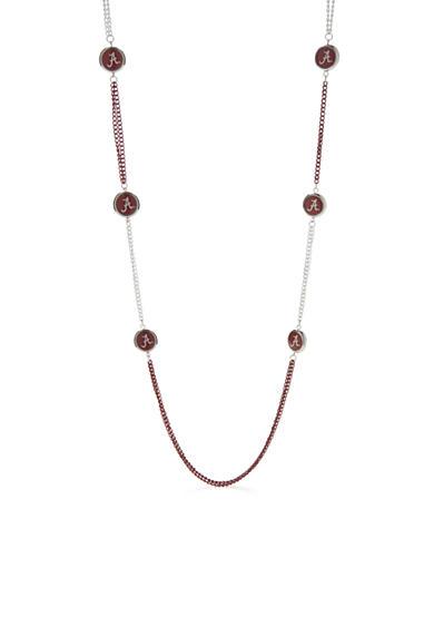 accessory PLAYS® Silver-Tone Alabama Crimson Tide Double Chain Long Necklace