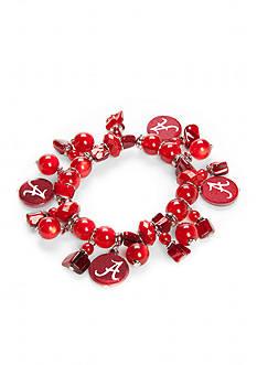 accessory PLAYS Silver-Tone Alabama Crimson Tide Charm Bracelet