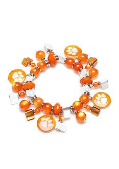 accessory PLAYS Silver-Tone Clemson Tigers Charm Bracelet
