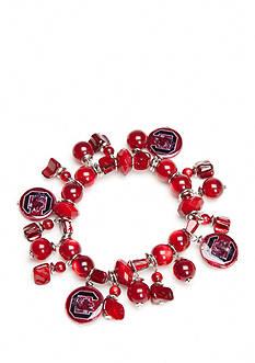 accessory PLAYS Silver-Tone South Carolina Gamecocks Beaded Charm Bracelet