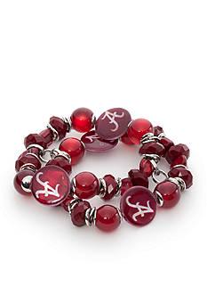 accessory PLAYS Silver-Tone Alabama Crimson Tide Stretch Bracelet