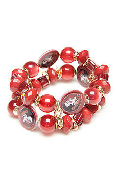 accessory PLAYS Gold-Tone Florida State Seminoles Two Row Beaded Bracelet