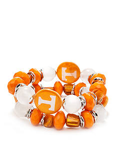 accessory PLAYS Silver-Tone Tennessee Volunteers Stretch Bracelet